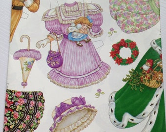 Adorable Sheet of Paper Doll Wrapping Paper