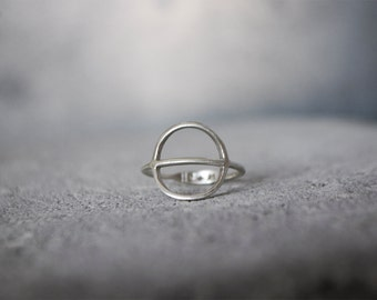 TYYNI Ring - sterling silver comfortable round rustic minimalist everyday ring, recycled silver