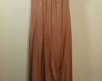 70s Vanity Fair Chocolate slip dress Medium