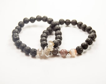 Quit Smoking - Grounding - Positive energy - Botswana Agate - Essential Oil diffuser bracelet