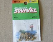 Brass Snap Swivels - 8 Count Size 12 by Laker, Supplies Destash Findings Jewelry Making, Tackle Hardware Fishing Lures Custom Men's Gift