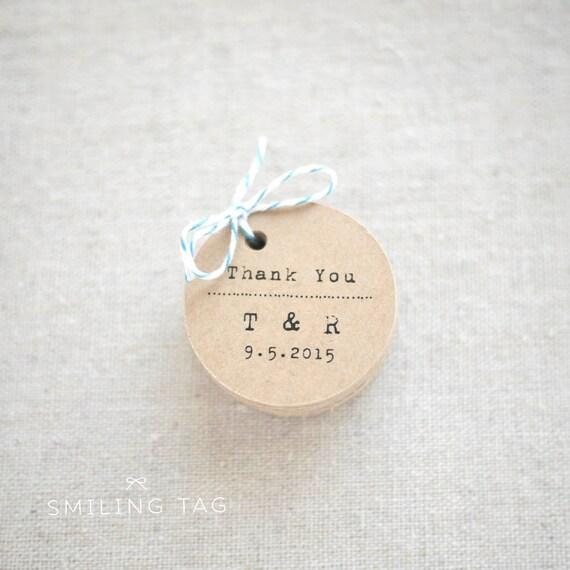 Wedding Favor Tags Rustic : Thank You Rustic Wedding Favor TagsVintage Inspired Kraft Gift Tag ...