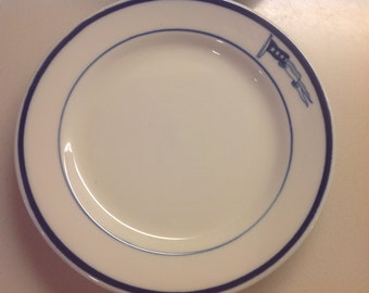 """RARE, US Navy Captain's 7"""" Bread & Butter or Salad Plate, WWII Naval Officer, Captain's Cabin"""