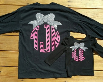 Mommy and Me Monogram Shirts
