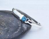 London Blue Topaz Ring, Birthstone Ring, Blue Topaz Jewelry, Blue Gemstone, December Birthstone Ring, December Gemstone, Birthstone Jewelry