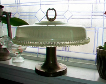 1930s Art Deco Ceiling Light Fixture 15 Inch Shade