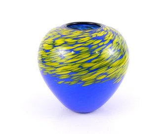Blue Blown Glass Vase