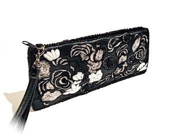 Vintage Hand Bag Black & White Clutch Women's  Evening Bags VP-230