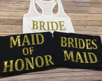Wedding Party Tank tops - pick tank & text color