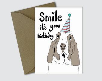 beagle birthday card  etsy, Birthday card