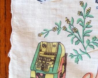 NEVADA vintage cotton hanky