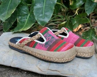 Slip On Womens Shoes in Tribal NagaTextiles,  Slides, Vegan Clogs - Sydney