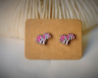 My Little Pony: Friendship Is Magic -- PINKIE PIE Stud Earrring ~ 9 mm- Girls / Casual / Cutie