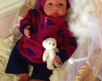 From the Biracial Shyann Kit  Reborn Baby Doll 19 inch Baby Boy Michael Complete Baby Doll