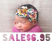 SALE - Boho Baby Headband - Baby Girl - Flower Headband - Newborn Headband - Infant Headband - Baby Girl Headbands - Headband Baby - Baby