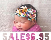 SALE - Boho Baby Headband - Baby Girl - Fall Headband - Flower Headband - Newborn Headband - Infant Headband - Baby Girl Headbands - Baby