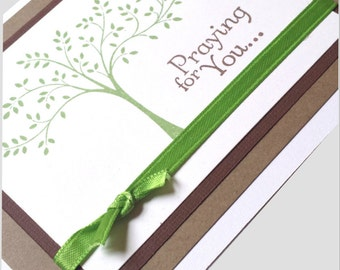 Handmade Sympathy card, Praying for You card, thinking of you card