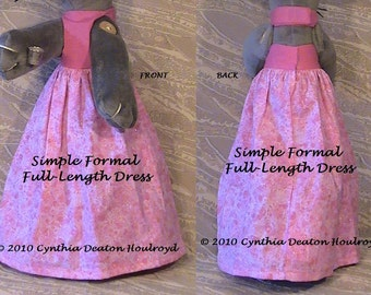 "PART #2 Option D - Simple Formal Full-Length DRESS [No Border, No Ruffle] - CDH ""Three Blind Mice..."""