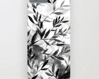 Black and White iPhone case, iPhone 6s case, iPhone 6 case, watercolor iPhone case, boho nature inspired, trendy art for your phone