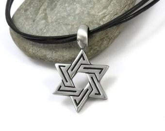 Men's Star of David Necklace, Hanukkah Gifts