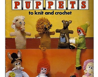 Toys & Puppets to Knit and Crochet  Pattern Book  / Leisure Arts 136