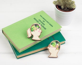 Planty Head Brooch