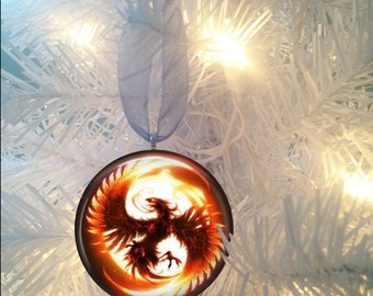 Phoenix Firebird #2 Christmas Tree Ornament