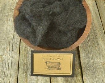 Needle Felting Wool - Black - Wet Felting Wool