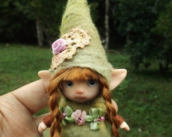 sweet   ooak posable   tiny three inch fairy fairie fae