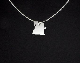 Angola Necklace - Angola Jewelry - Angola Gift
