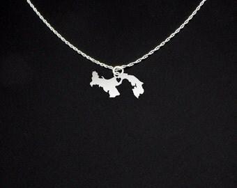 Panama Necklace - Country Necklace - Panama Gift - Panama Jewelry