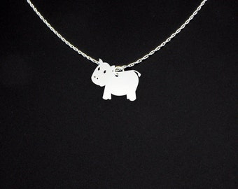 Cow Necklace - Cow Jewelry - Cow Gift