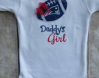 New England Patriots Daddy's Girl Inspired Girl Shirt or Bodysuit