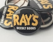 """Ghostbusters   Ray's Occult Books   1"""" Buttons"""