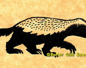 Honey Badger Rubber Stamp