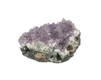 Purple Amethyst Druzy Crystal on Metallic rock matrix Mineral Specimen or Jewelry Focal mined at Creede Colorado from an estate collection