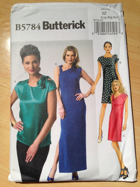Butterick 5784 Sewing Pattern Misses Top and Dress Uncut Size 16-26