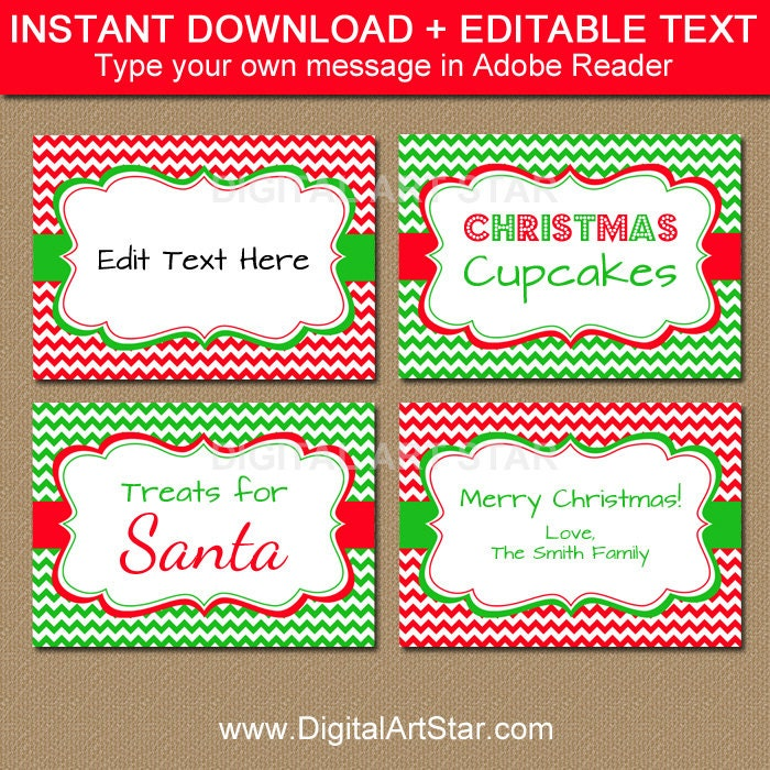 holiday party food labels christmas food labels printable. Black Bedroom Furniture Sets. Home Design Ideas