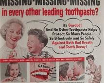COLGATE TOOTHPASTE Original Vintage Advertisement Bathroom Print Dentist Dental Office Decor Dental Hygienist Wall Decor Ready To Frame