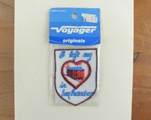 Vintage San Francisco Patch | Souvenir Travel Woven Badge Embroidered Sew On Patch | I Left My Heart in San Francisco | 80's Voyager Patch