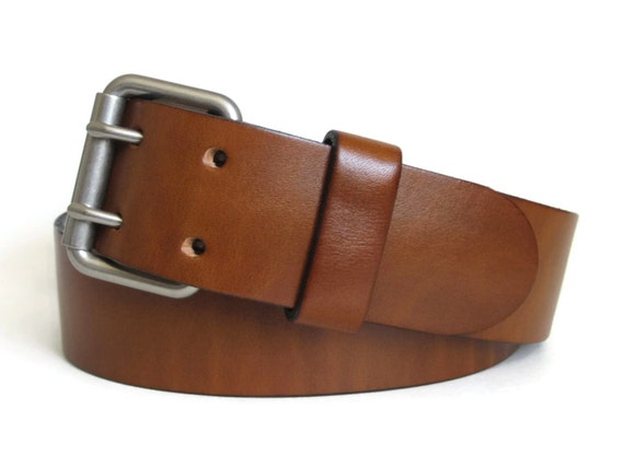 mens brown leather belt wide leather belt mens by