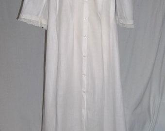 Vintage 1900 Edwardian Night Dress Cotton Batiste