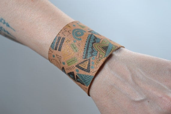 Indian Leather Cuff Bracelet - Leather Cuff Bracelet - Brown Leather Cuff -  Leather Cuff Bracelet - Native American style