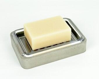 Concrete Soap Dish / Bar Soap Holder / Soap Deck