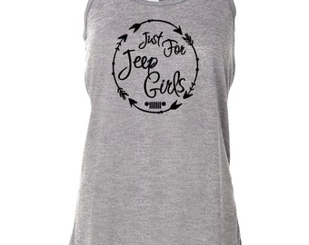 Just For Jeep Girls Logo Tank {Circled Arrows Design}