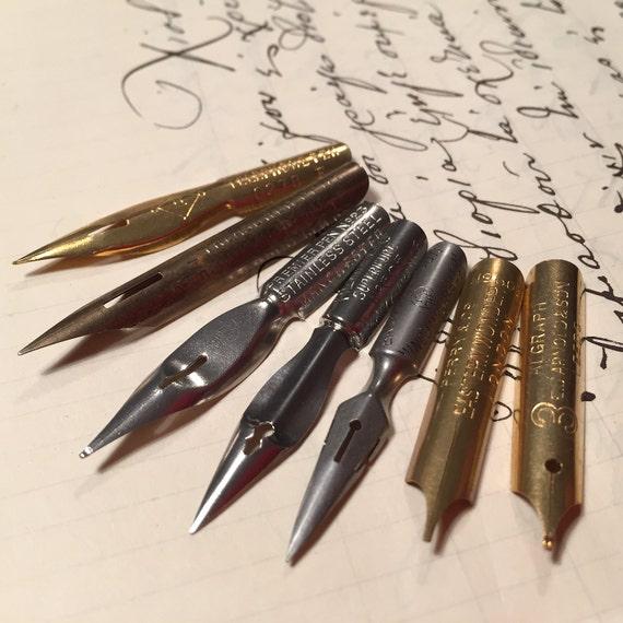 Sample set 1: vintage dip pen nibs French and English nibs.