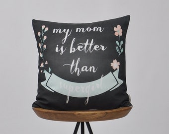 Mother's Day Gift, Gift for Mom, Decorative Pillow, Floral Pillow, Throw Pillow, Cushion Cover, 16""
