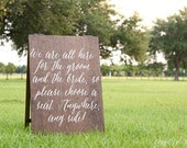 Choose a Seat Not a Side Sign, Pick a Seat Not a Side Wedding Sign, Sit Anywhere Sign, Wedding Seating Sign, Wedding Entrance Sign