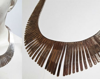 1970s Metal Collar Necklace