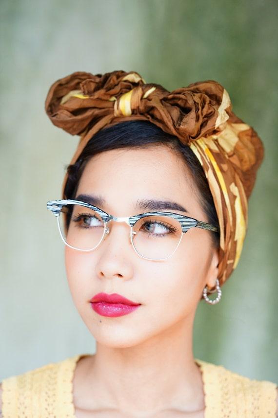 Glasses Frame Made In Usa : Vintage Eyeglass Cat eye glasses 1960s Frame Made In USA